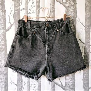//VINTAGE// Ozark Mountain Black Denim Shorts